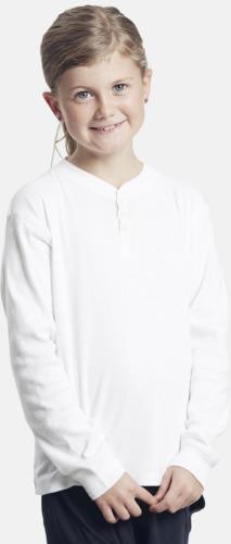 Vit (barn) Långärmade dam- & barn t-shirts eko & Fairtrade med reklamtryck