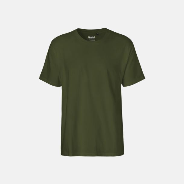 Military (herr) Klassiska t-shirts i ekologisk fairtrade-bomull med tryck