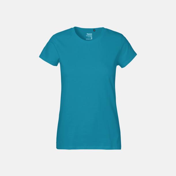 Sapphire (dam) Klassiska t-shirts i ekologisk fairtrade-bomull med tryck