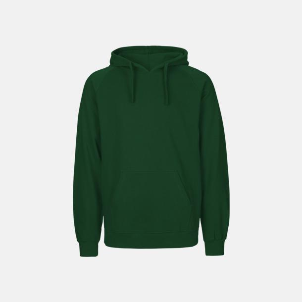 Bottle Green (herr) Ekologiska huvtröjor för herr och dam med tryck