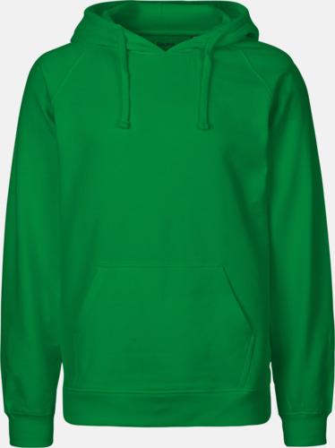 Grön (herr) Ekologiska huvtröjor för herr och dam med tryck