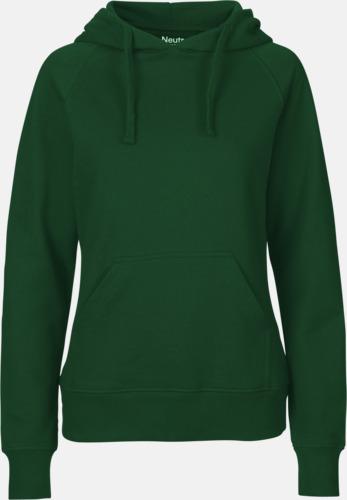 Bottle Green (dam) Ekologiska huvtröjor för herr och dam med tryck
