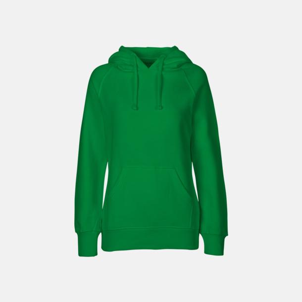Grön (dam) Ekologiska huvtröjor för herr och dam med tryck