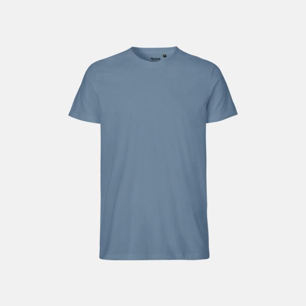 Dusty Indigo (herr) Fitted t-shirts i ekologisk fairtrade-bomull med tryck