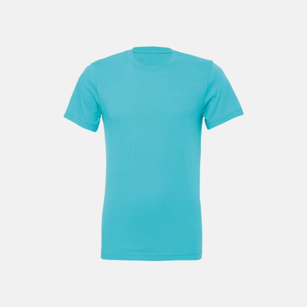 Teal T-shirts för herr och dam - med reklamtryck