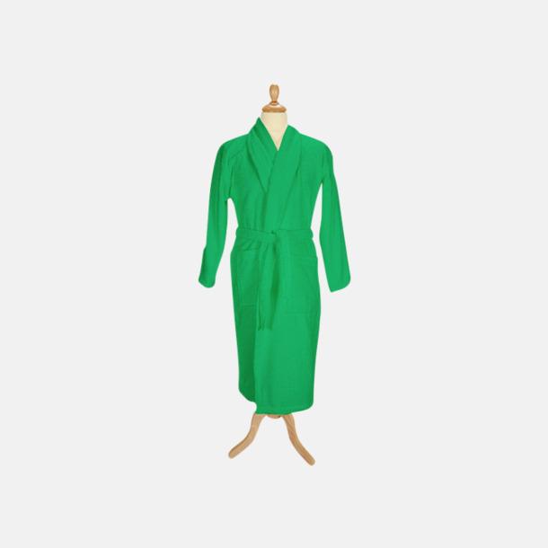 Irish Green (mörk) Färgglada badrockar med reklambrodyr