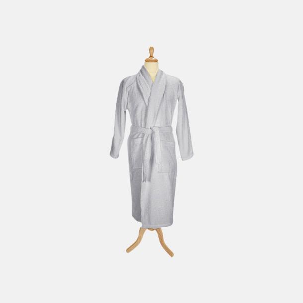Ljusgrå (pastell) Färgglada badrockar med reklambrodyr