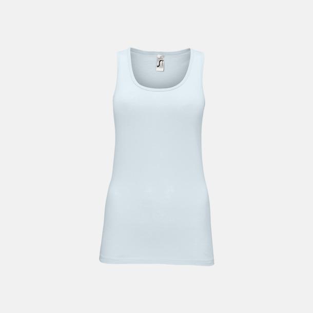 Creamy Blue (dam) Billiga linnen med tryck av egen logo