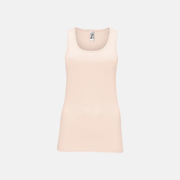 Creamy Pink (dam) Billiga linnen med tryck av egen logo