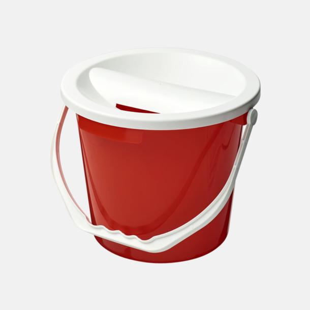 Röd Insamlingshinkar för välgörande ändamål - med reklamtryck