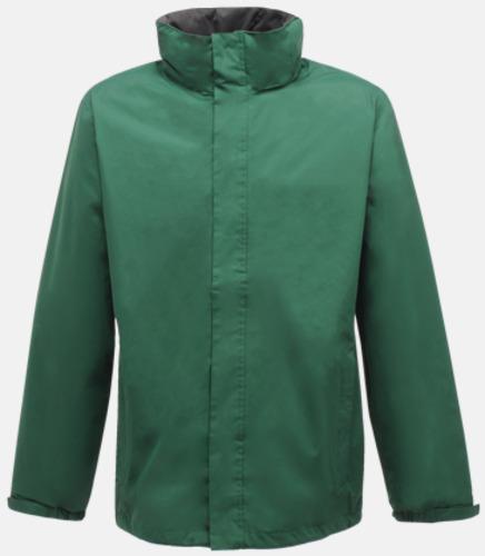 Bottle Green/Seal Grey (solid) Vind- & regnjacka i herrmodell med reklamtryck