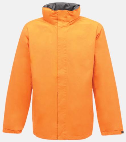 Sun Orange/Seal Grey (solid) Vind- & regnjacka i herrmodell med reklamtryck