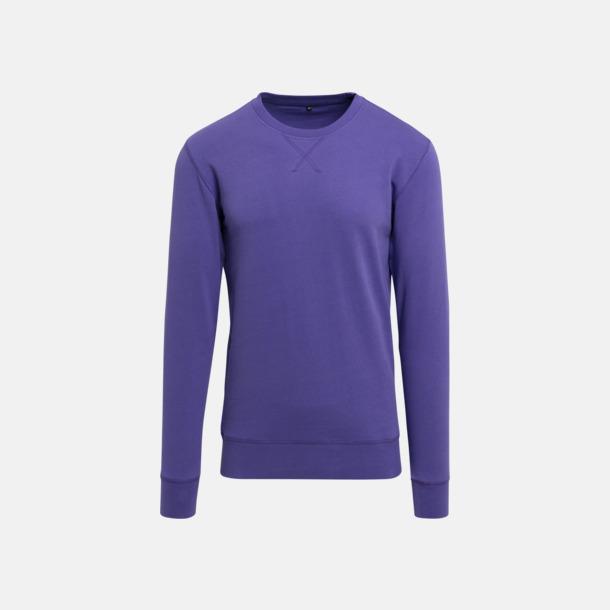 Ultraviolett (herr) Kvalitetströjor i herr- och dammodell med reklamtryck