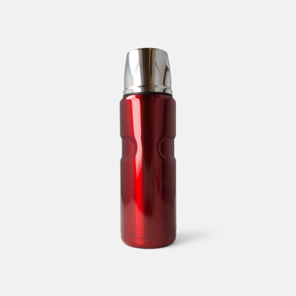 Röd 50 cl retrotermosar med reklamtryck
