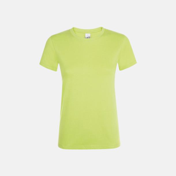 Apple Green Billiga dam t-shirts i många färger med reklamtryck