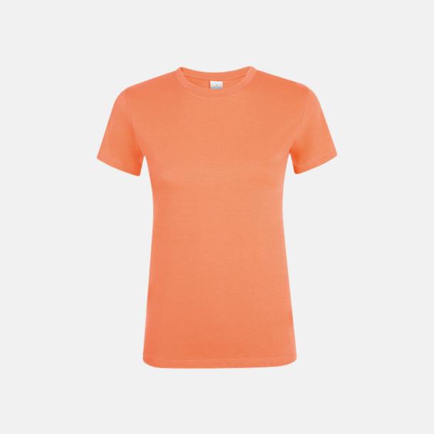 Apricot Billiga dam t-shirts i många färger med reklamtryck