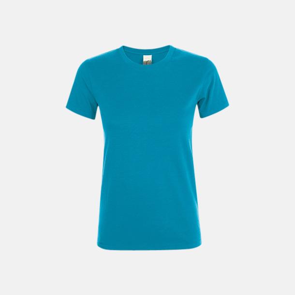 Aqua Billiga dam t-shirts i många färger med reklamtryck