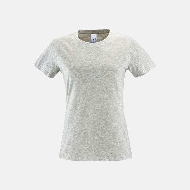 Ash (heather) Billiga dam t-shirts i många färger med reklamtryck