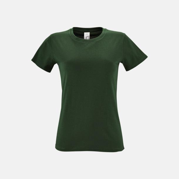 Bottle Green Billiga dam t-shirts i många färger med reklamtryck