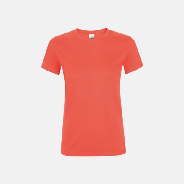 Coral Billiga dam t-shirts i många färger med reklamtryck