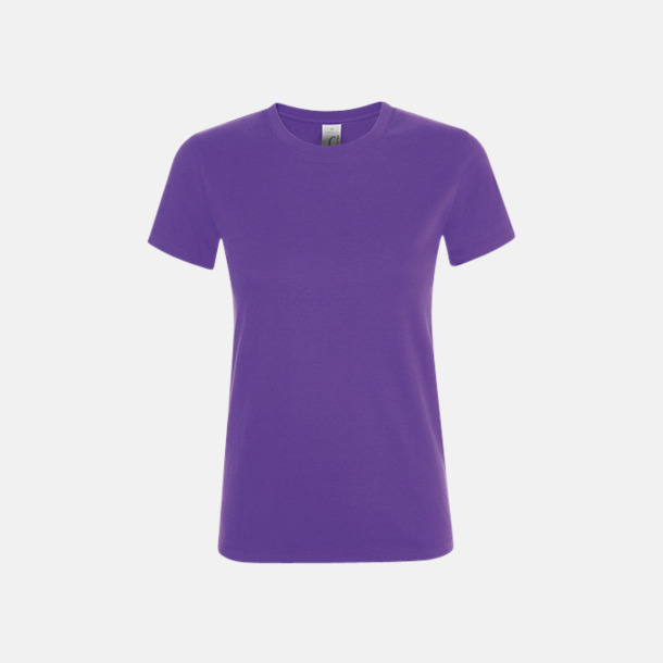 Mörklila Billiga dam t-shirts i många färger med reklamtryck