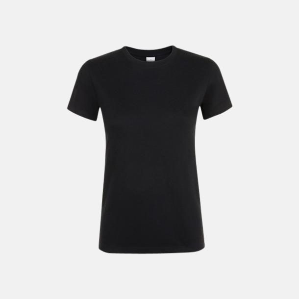 Deep Black Billiga dam t-shirts i många färger med reklamtryck