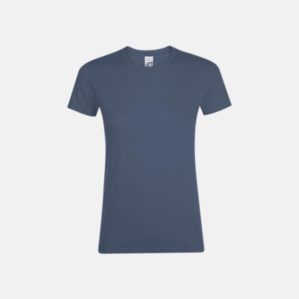 Denim Billiga dam t-shirts i många färger med reklamtryck