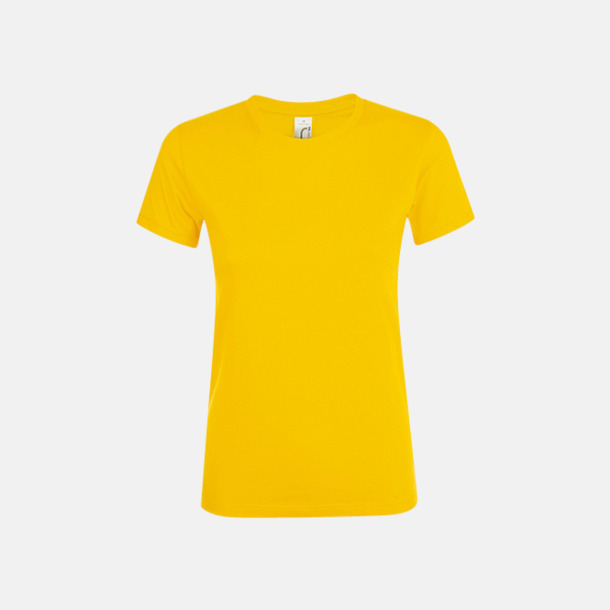 Guld Billiga dam t-shirts i många färger med reklamtryck