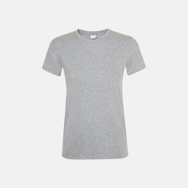 Grey Melange Billiga dam t-shirts i många färger med reklamtryck