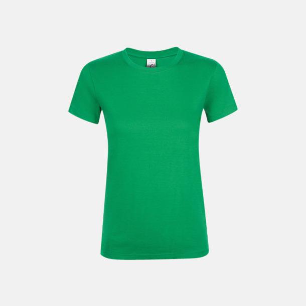 Kelly Green Billiga dam t-shirts i många färger med reklamtryck