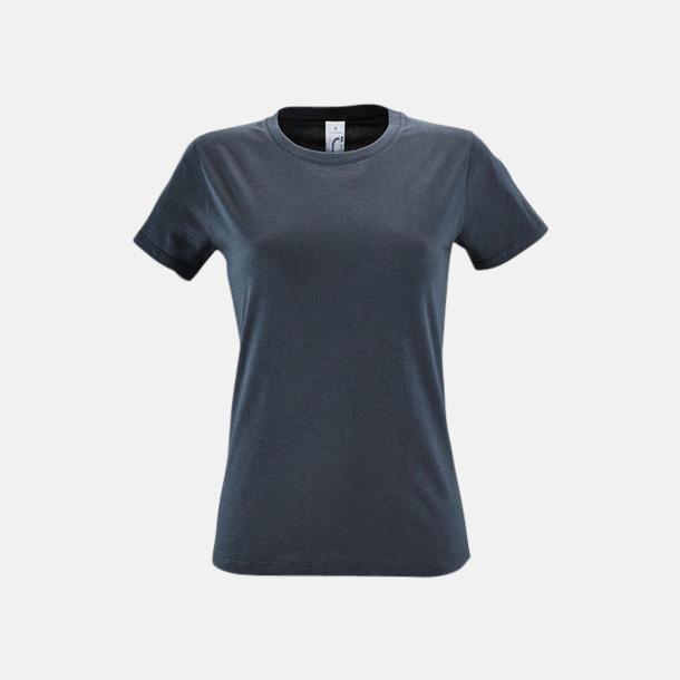 Mouse Grey (solid) Billiga dam t-shirts i många färger med reklamtryck