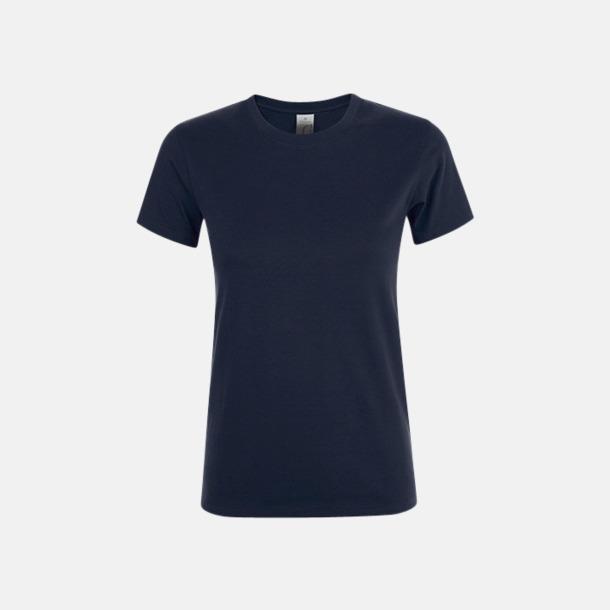 Marinblå Billiga dam t-shirts i många färger med reklamtryck