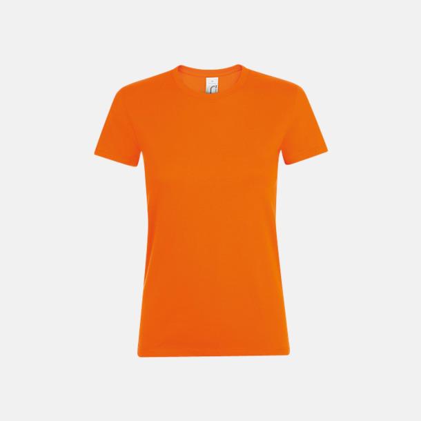 Orange Billiga dam t-shirts i många färger med reklamtryck