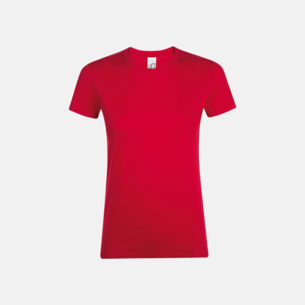 Röd Billiga dam t-shirts i många färger med reklamtryck