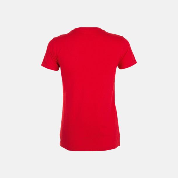 Billiga dam t-shirts i många färger med reklamtryck