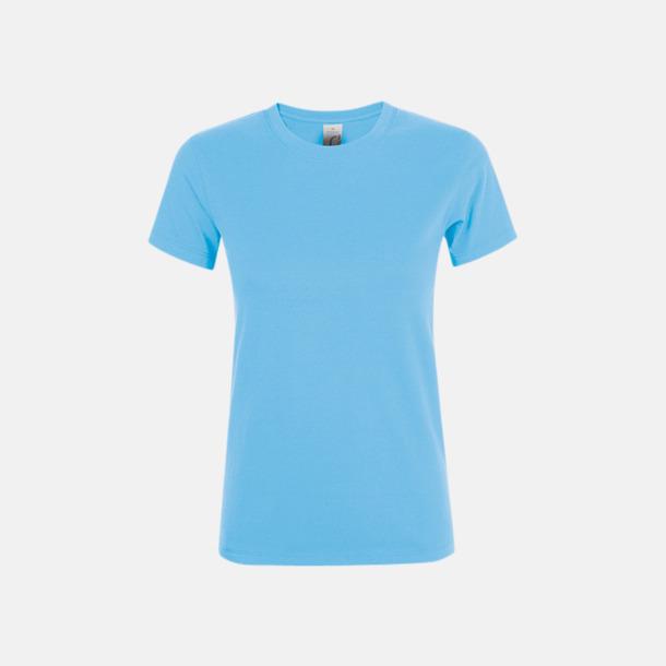 Sky Blue Billiga dam t-shirts i många färger med reklamtryck