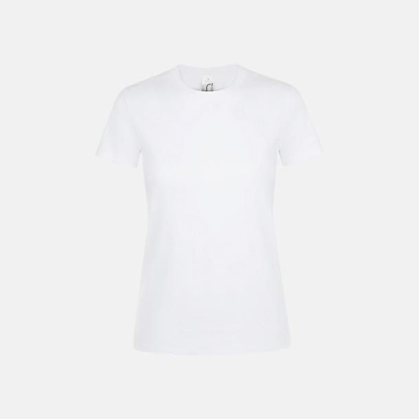 Vit Billiga dam t-shirts i många färger med reklamtryck