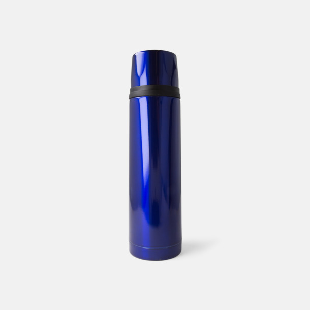 Blå 50 cl termosflaskor med reklamtryck