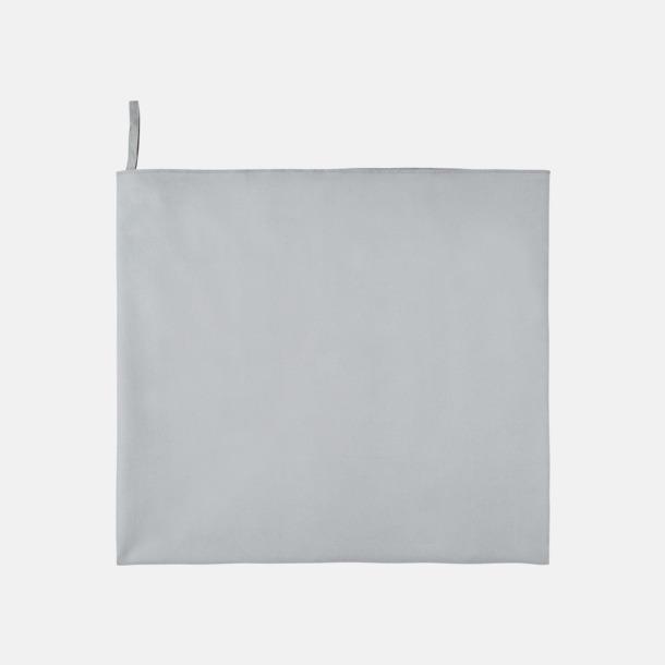 Pure Grey Sportiga microfiberhanddukar i 3 handdukar med reklambrodyr