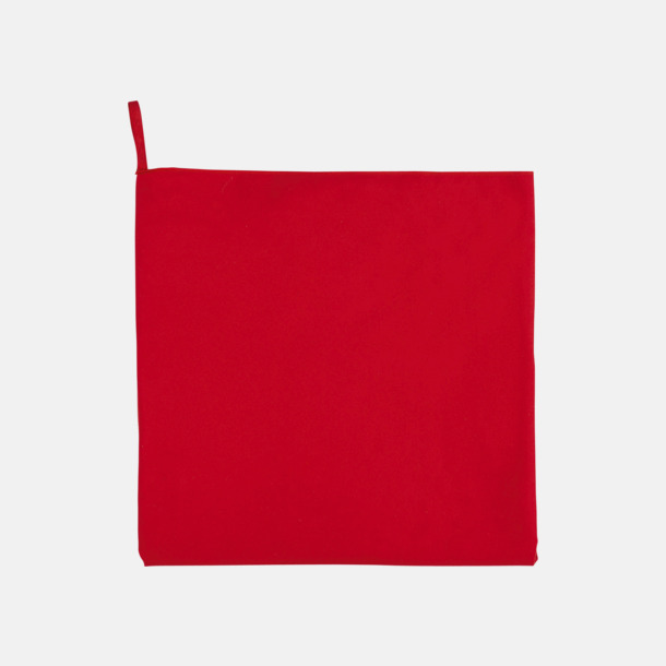 Röd Sportiga microfiberhanddukar i 3 handdukar med reklambrodyr