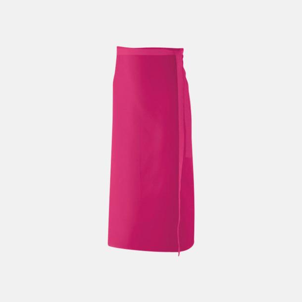 Hot Pink (100 x 80 cm) Förkläden i 5 varianter med reklamtryck