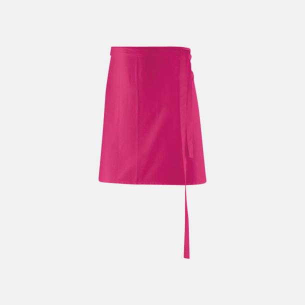 Hot Pink (80 x 45 cm) Förkläden i 5 varianter med reklamtryck