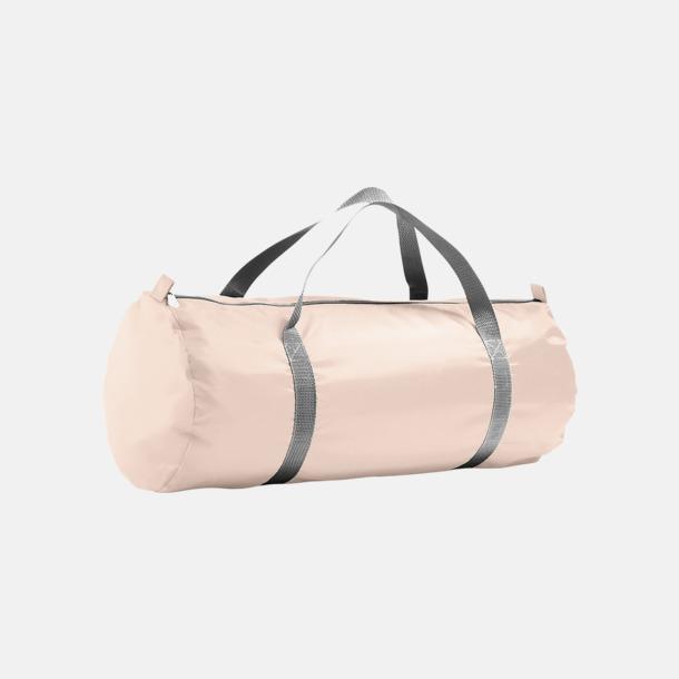 Creamy Pink Resväskor i 2 storlekar med reklamtryck