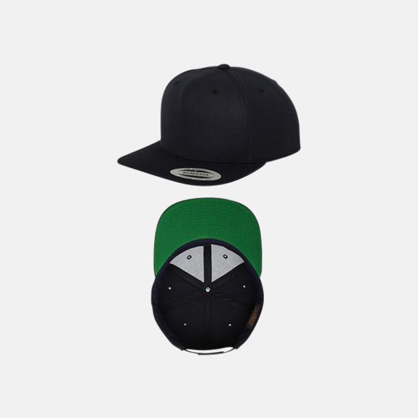 Dark Navy/Grön Snapback kepsar med flexfit - med reklamtryck