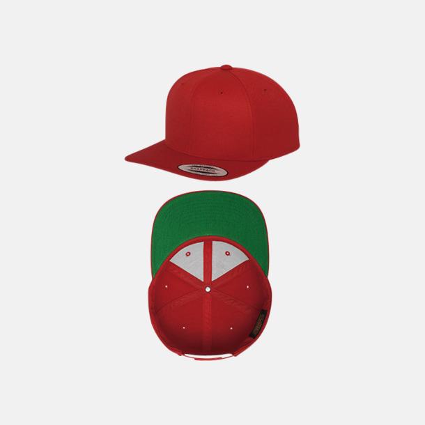 Röd / Grön Snapback kepsar med flexfit - med reklamtryck
