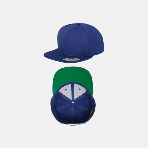Royal/Grön Snapback kepsar med flexfit - med reklamtryck