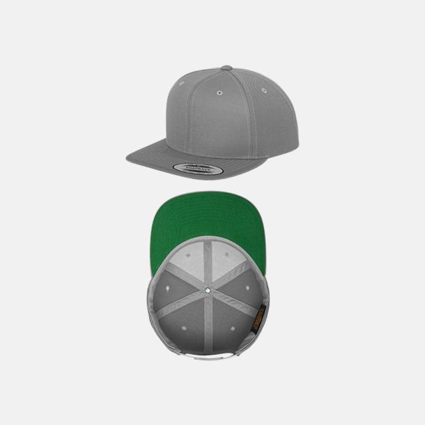Silver / Grön Snapback kepsar med flexfit - med reklamtryck