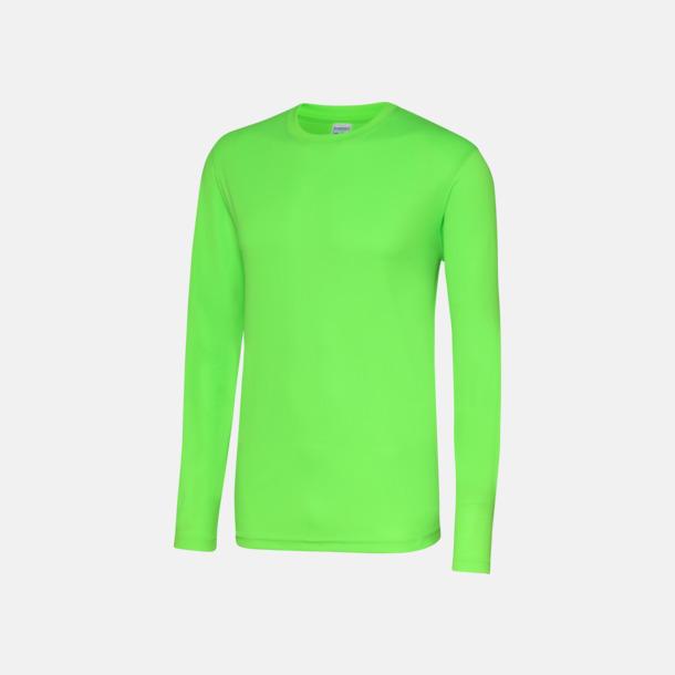 Electric Green (unisex) Unisex tränings t-shirts med långa ärmar - med reklamtryck