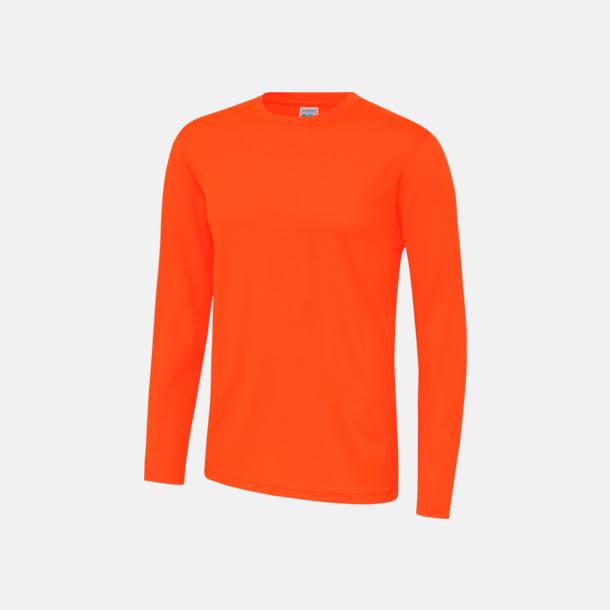 Electric Orange (unisex) Unisex tränings t-shirts med långa ärmar - med reklamtryck