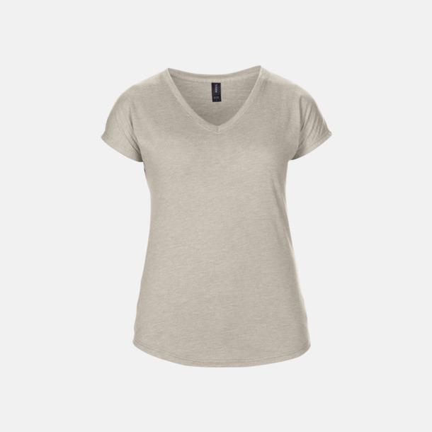Heather Slate (dam) Spräckliga t-shirts med reklamtryck
